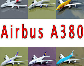 3D model 6 A380 Airline Textures