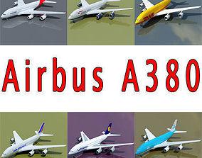 3D model 6 A380 Airline Textures