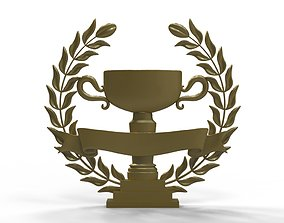 Wreath and trophy cup 3D printable model