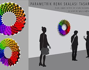 Three Dimensional Parametric Color Circle 3D