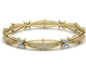 Diamond Jewelry Bangle Bracelet 3D printable model