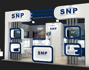 Exhibition Stand - ST0037 3D