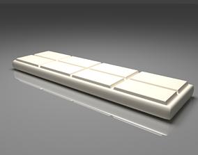 3D model White Chocolate Bar 3
