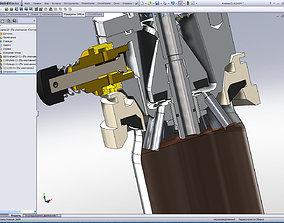 Complete beer cans filler valve 3D