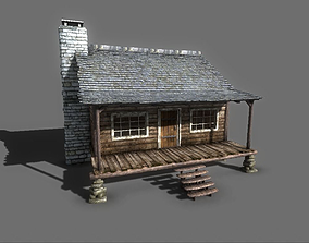The Wood Cabin 3D model