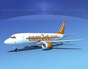 3D model Boeing 737-300 Easy Jet