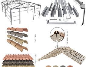 3D sloped roof-sandwich panel