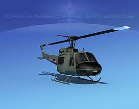 Bell UH-1B Iroquois V10 US Navy 3D model