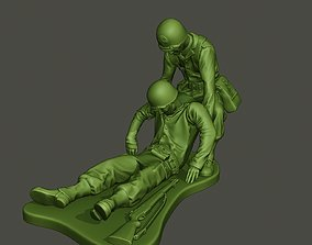 3D printable model American soldiers ww2 dragging A8