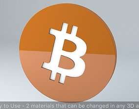 Bitcoin Crypto Currency 3D Logo