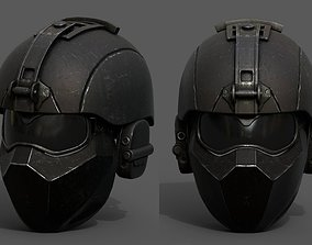 3D model Helmet military combat space scifi cyborg