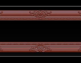 3D print model Classical carved frame