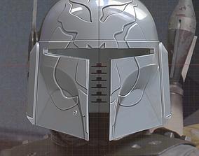 Mythosaur Skull Mandalorian Helmet 3D printable model 2
