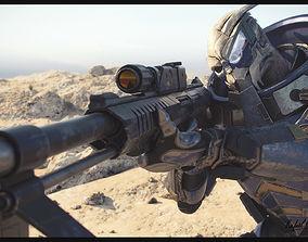 MASS EFFECT - Garrus Vakarian with Black Widow Rifle 3D