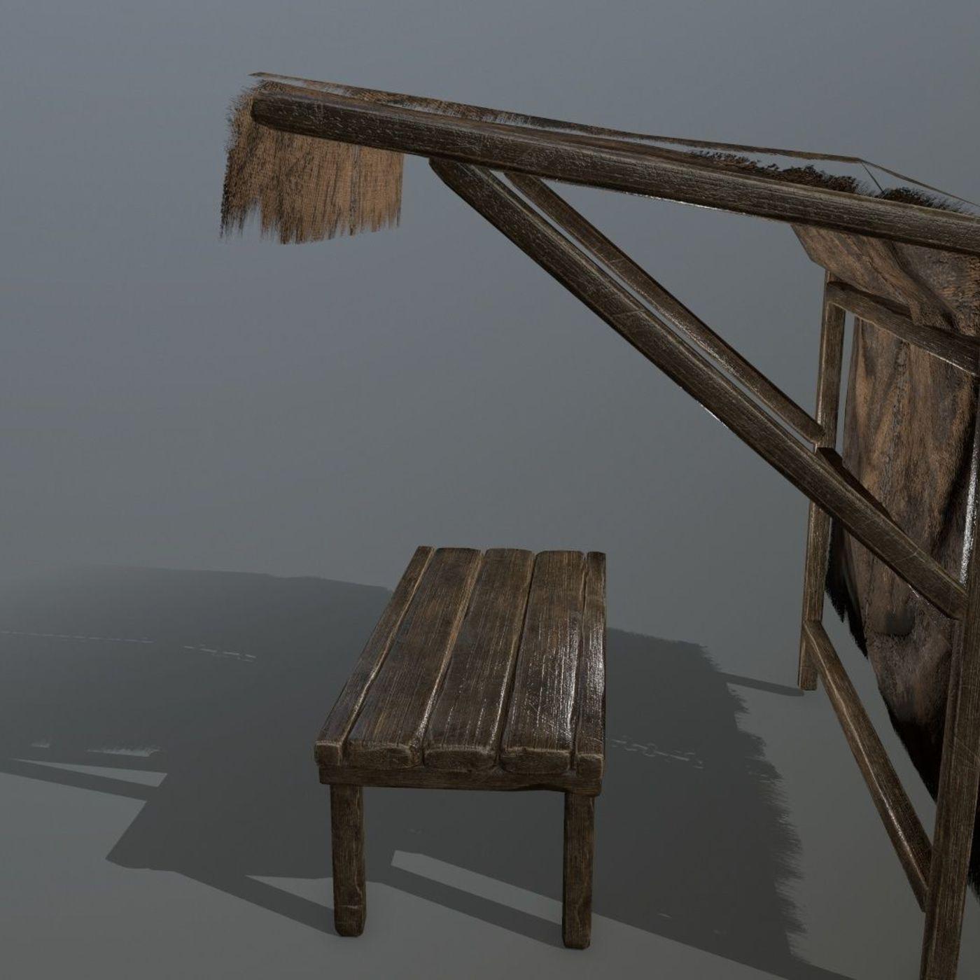 market bench