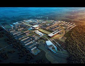 3D model University building complex 001