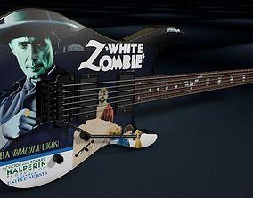 Kirk Hammett - LTD KH-3 White Zombie Guitar 3D