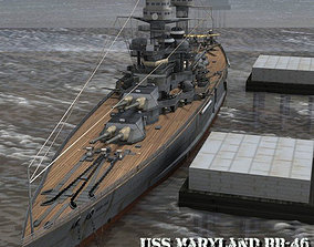 3D USS Maryland BB-46 for Poser