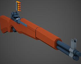 3D asset Stylized M1 Garand Low Poly Mobile Ready