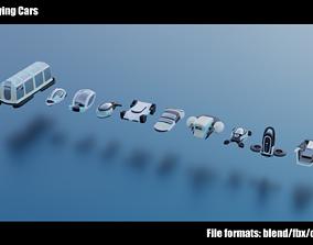 Stylized Flying Cars 1-10 3D model