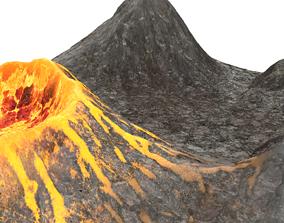 3D model Active Volcano Landscape