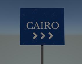 3D asset Cairo sign