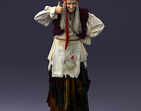 3D Jolly old witch 0176