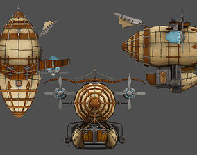 Airship helicopter 3D model VR / AR ready