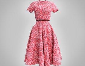 fancy dress - croptop and circle skirt 3D