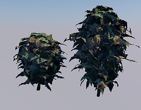3D asset Low poly Cannabis bud
