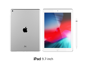 3D iPad 9 7-inch Silver