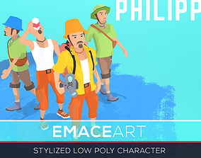 PHILIPP Stylized modular low poly character 3D asset