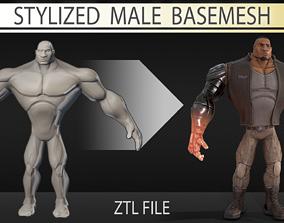 Stylized male basemesh 3D