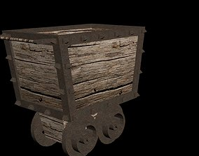 3D model Low Poly Mine Cart