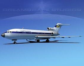 Boeing 727-100 Lufthansa 1 3D model