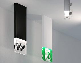 3D model viabizzuno trasparenze wc exit light emergency