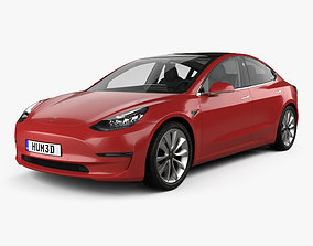 Tesla Model 3 with HQ interior 2018
