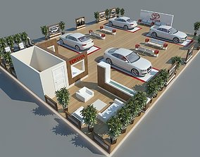 Exhibition Stand 101 3D model display