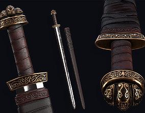 3D asset Lowpoly Medieval Carolingian Sword
