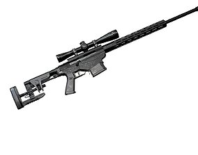 3D model Ruger Precision Rifle with Scope AAA Game Weapon