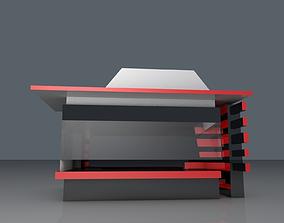 Coffee Kiosk 3D asset