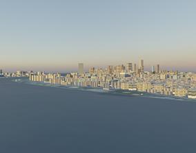 3D model Manhattan Fully Textured