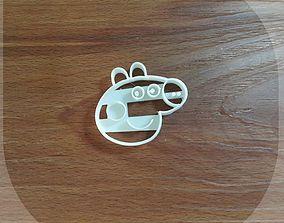3D printable model Peppa pig cookie cutter