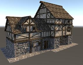 Medieval City House 05 3D asset