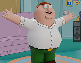 3D model Peter Griffin From Family Guy - Rigged