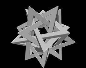 3D printable model mathematical-art Tetrahedron 5 Star