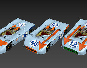 3D asset Porsche 908 - 3 1970 - Gulf Race Version