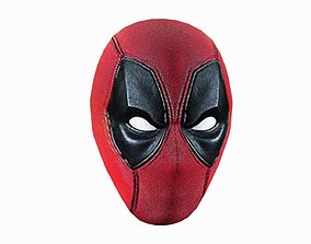 3D model disguise deadpool mask