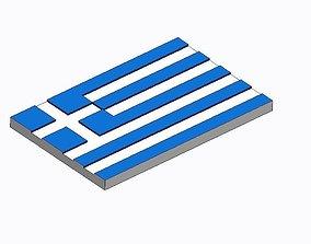 Flag of Greece 3D print model
