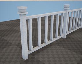 Moduler Fence PBR Game Ready 3D model